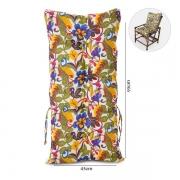 Almofada Para Cadeiras de Bambu e Vime Floral