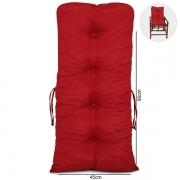 Almofada Para Cadeiras de Bambu e Vime Vermelha