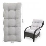 Almofada Para Cadeiras de Fibra Cinza