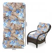 Almofada Para Cadeiras de Fibra Orquídea Azul