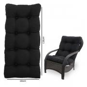 Almofada Para Cadeiras de Fibra Preta