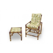 Cadeira de Bambu 1 Lugar com Almofada Bambu Claro