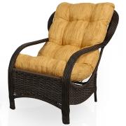 Cadeira de Fibra Com Almofada Amarelo Mesclado