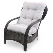 Cadeira de Fibra Com Almofada Cinza