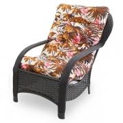 Cadeira de Fibra Com Almofada Folhagem Outono