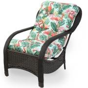 Cadeira de Fibra Com Almofada Impermeável Aruba