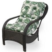 Cadeira de Fibra Com Almofada Impermeável Folha