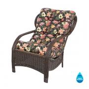 Cadeira de Fibra Com Almofada Impermeável Havana