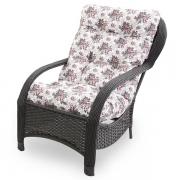 Cadeira de Fibra Com Almofada Mini Rosa