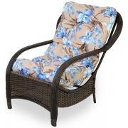 Cadeira de Fibra Com Almofada Orquídea Azul