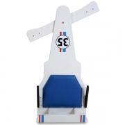 Carrinho de Rolimã F1 Com Rodas de Skate Branco 35