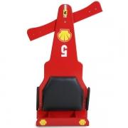 Carrinho de Rolimã F1 Com Rodas de Skate Vermelho 5