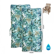 Kit 2 Almofadas Impermeáveis P/ Cadeiras de Bambu/Vime Tiffany