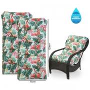 Kit 2 Almofadas Impermeáveis Para Cadeiras de Fibra Aruba