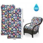 Kit 2 Almofadas Impermeáveis Para Cadeiras de Fibra Barça