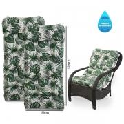 Kit 2 Almofadas Impermeáveis Para Cadeiras de Fibra Folha