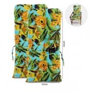 Kit 2 Almofadas Para Cadeiras de Bambu e Vime Flor Amarela