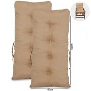 Kit 2 Almofadas Para Cadeiras de Bambu e Vime Nude
