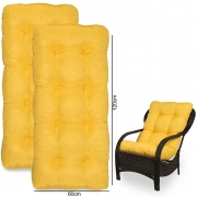 Kit 2 Almofadas Para Cadeiras de Fibra Amarela