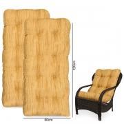 Kit 2 Almofadas Para Cadeiras de Fibra Amarelo Mesclado