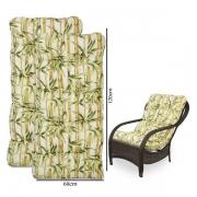 Kit 2 Almofadas Para Cadeiras de Fibra Bambu Claro
