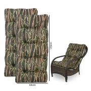 Kit 2 Almofadas Para Cadeiras de Fibra Bambu Escuro