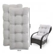 Kit 2 Almofadas Para Cadeiras de Fibra Cinza