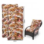 Kit 2 Almofadas Para Cadeiras de Fibra Folhagem Outono