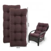 Kit 2 Almofadas Para Cadeiras de Fibra Marrom