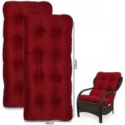 Kit 2 Almofadas Para Cadeiras de Fibra Marsala
