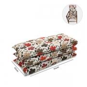 Kit 3 Almofadas P/ Cadeiras de Bambu e Vime Flores Hibiscos