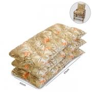 Kit 3 Almofadas P/ Cadeiras de Bambu e Vime Folhagem Claro