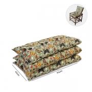 Kit 3 Almofadas Para Cadeiras de Bambu e Vime Borboletas