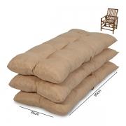 Kit 3 Almofadas Para Cadeiras de Bambu e Vime Cores Lisa