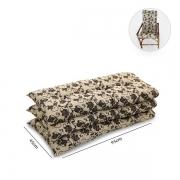 Kit 3 Almofadas Para Cadeiras de Bambu e Vime Flor Marrom