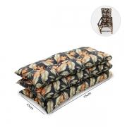 Kit 3 Almofadas Para Cadeiras de Bambu e Vime Helicônia