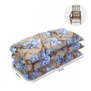 Kit 3 Almofadas Para Cadeiras de Bambu e Vime Orquídea Azul