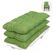 Kit 3 Almofadas Para Cadeiras de Bambu e Vime Verde