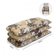 Kit 3 Almofadas Para Cadeiras de Bambu e Vime Zenaide Marrom