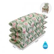 Kit 4 Almofadas Impermeáveis P/ Cadeiras de Bambu/Vime Flor