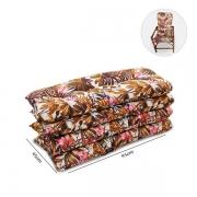 Kit 4 Almofadas P/ Cadeiras de Bambu e Vime Folhagem Outono