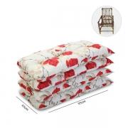 Kit 4 Almofadas P/ Cadeiras de Bambu e Vime Lucélia Vermelho