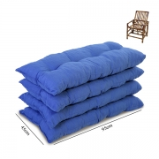 Kit 4 Almofadas Para Cadeiras de Bambu e Vime Cores Lisa
