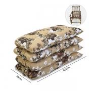 Kit 4 Almofadas Para Cadeiras de Bambu e Vime Zenaide Marrom