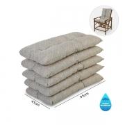 Kit 5 Almofadas Impermeáveis P/ Cadeiras de Bambu/Vime Bege