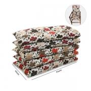 Kit 5 Almofadas P/ Cadeiras de Bambu e Vime Flores Hibiscos