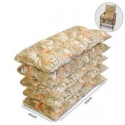 Kit 5 Almofadas P/ Cadeiras de Bambu e Vime Folhagem Claro