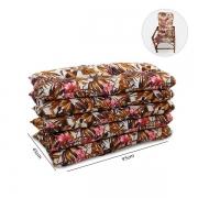 Kit 5 Almofadas P/ Cadeiras de Bambu e Vime Folhagem Outono