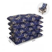 Kit 5 Almofadas Para Cadeiras de Bambu e Vime Azul Florida