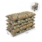 Kit 5 Almofadas Para Cadeiras de Bambu e Vime Borboletas